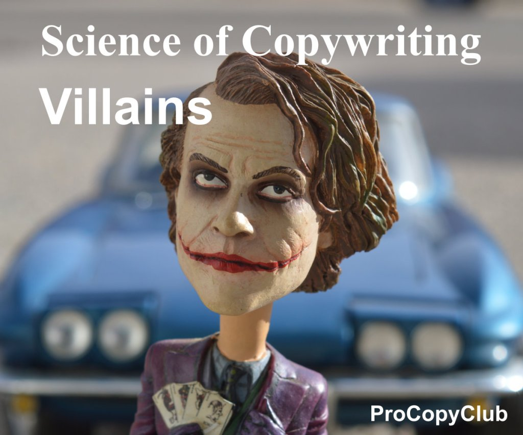 How not to be a Villain of Copywriting - image of the joker