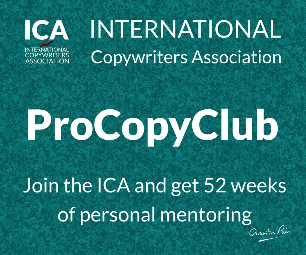 ICA ProCopyClub Copywriting Program