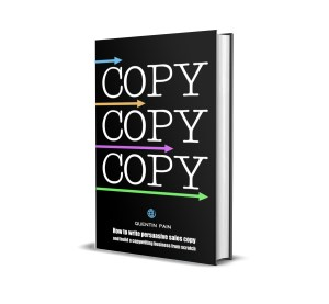 COPY - the new book on copywriting from Quentin Pain - image of the book