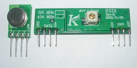 TX433 and RX433 RF modules