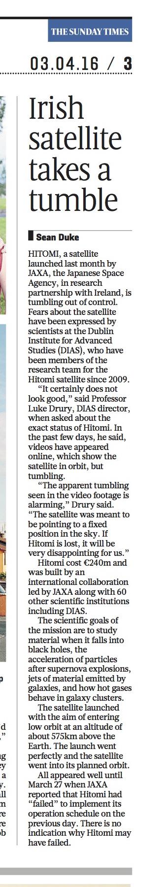 Satellite Story