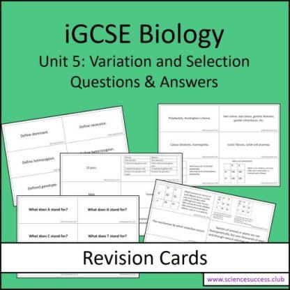 Screenshots of the Edexcel iGCSE B5 resource
