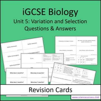 Screenshots of the Edexcel iGCSE B5 resource