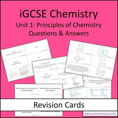 Screenshots of the Edexcel iGCSE C1 resource