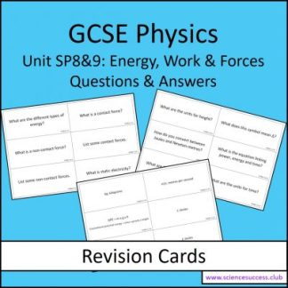 SP8&9 revision cards photographs
