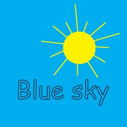 Make a blue sky in a jar