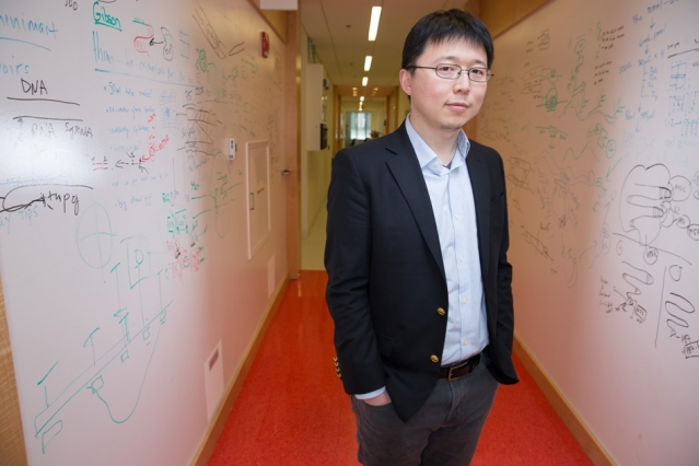 """""""I was always interested in biology but I felt that it's important to get a solid training in chemistry and physics,"""" Feng Zhang says."""