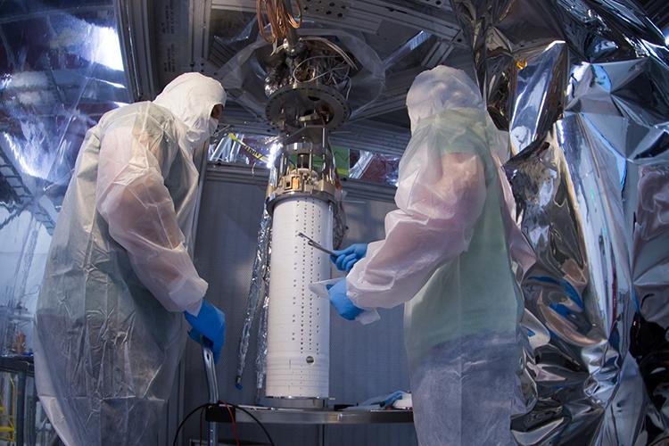 LZ dark matter detector prototype
