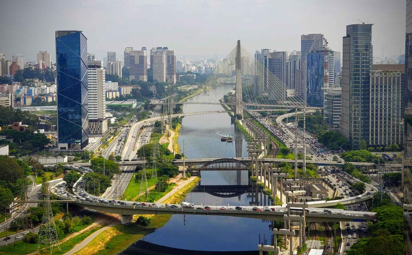 picturesque scenery of modern sao paulo district