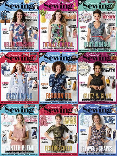 download Simply Sewing - 2018 Full Year Collection