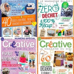 scientificmagazines Creative-annee-complete-2020 Créative - année complète 2020 Craft and Handmade Frensh magazines Full Year Collection Magazines Hobbies & Leisure time  Créative