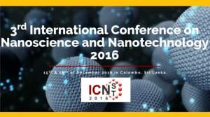 Nano technology and Nanoscience Confefernce Colombo Sri Lanka