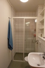 A bathroom for just two people! And it is nicer than mine back at home.