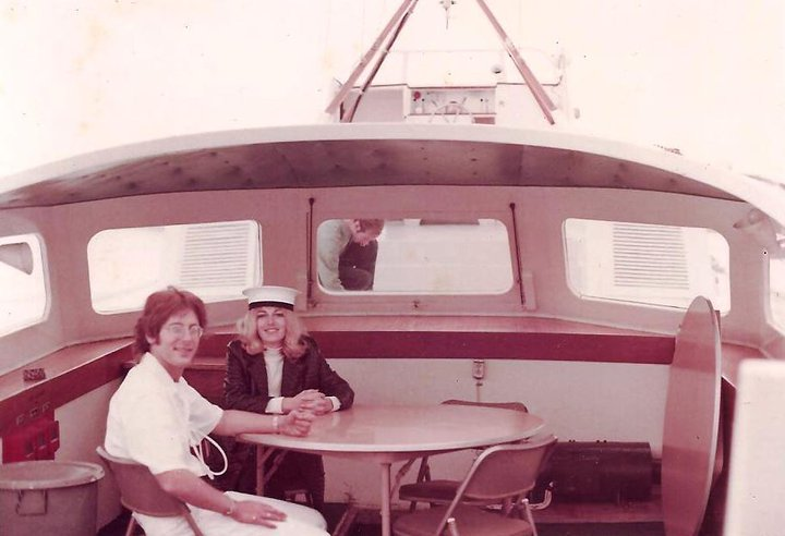 Geoff Levin and Candy Swanson aboard the Neptune - Scientolopedia