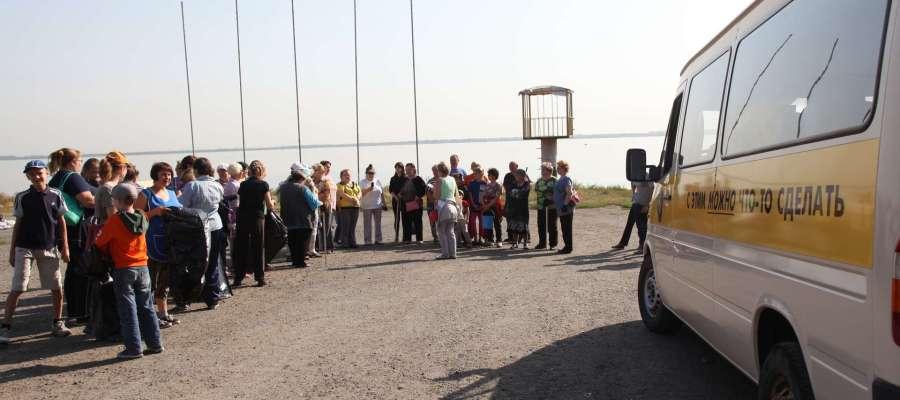Координация перед субботником в Тракторозаводском районе, Челябинск. Тур Доброй воли