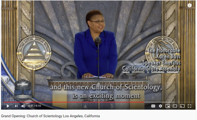 Rep Karen Bass Offers A Very Weak Tweet Ignores Scientology S Human Rights Abuses And Cover Ups Of Rapes And Child Molestation The Scientology Money Project