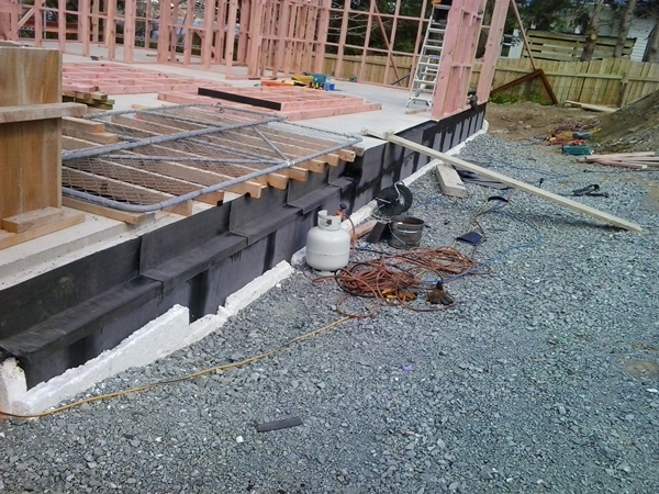 adding another pieces of tanking membrane at top of back wall