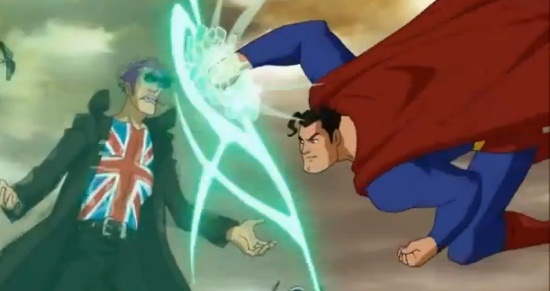Superman meets Manchester Black's force shield