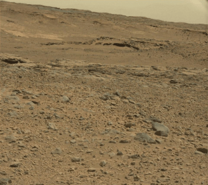 Curiosity, just out for a little drive. And Science. (photo credit: NASA/JPL-Caltech)