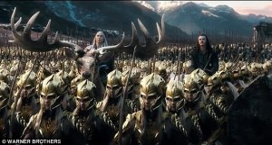 Just one of the many armies that in this movie. This army has Lee Pace on a giant elk, thus making it more impressive-looking than the other armies.