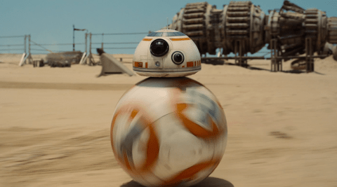 BB-8 from 'Star Wars: The Force Awakens' rollin' along
