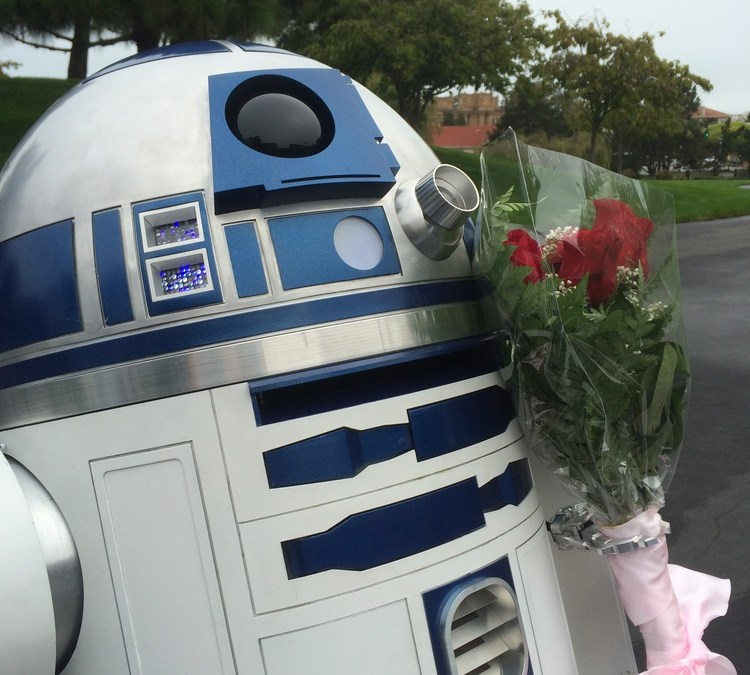 R2D2 with Flowers