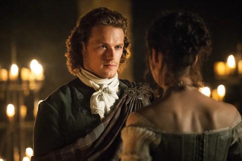 Sam Heughan as Jamie Fraser in 'Outlander'.