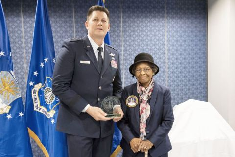 General Thompson awards highest honors to Gladys West
