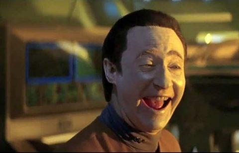 Brent Spiner as Cmdr. Data in 1994's Star Trek Generations