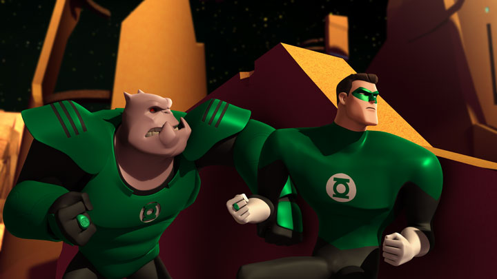 Animated GREEN LANTERN: a Semi-Solid Construct