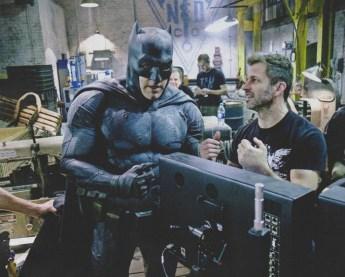 Affleck (Batman) e o diretor Zack Snyder