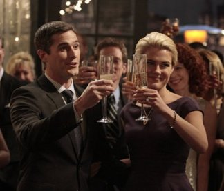 Henry and Jane receive a toast at their engagement party.