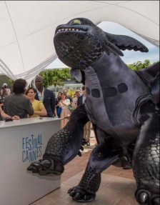 Toothless dominates the Cannes Festival tent.