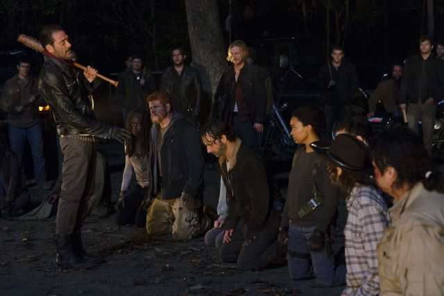 Negan and the rest of the cast in the final scene. Credit: The Verge.com