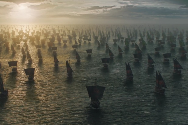 Daenery's Fleet of ships going to Westeros. Credit: thewrap.com