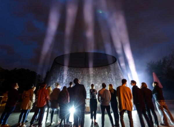 Visitors to the Greenwich Observatory Planetarium look up in awe during out-of this- world audio drama space beaming, to mark the launch of Alien: River of Pain – an Audible audio drama exclusive 25/04/17