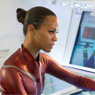 Zoe Saldana in wetsuit as Uhura - Star Trek Into Darkness