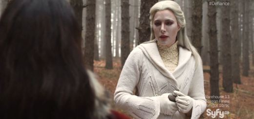Defiance - Stahma (Jaime Murray) - the poison is on the flask