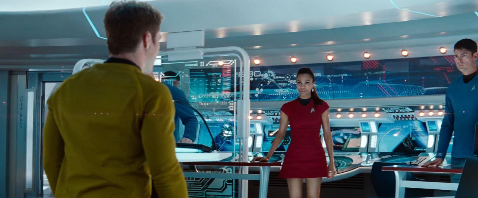 New Star Trek TV series - Zoe Saldana in skirt uniform