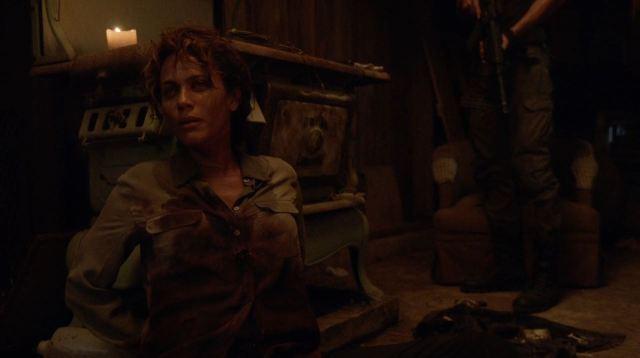 Revolution - Justine Allenford (Nicole Ari Parker) after being shot to death by her husband
