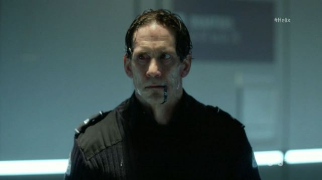Helix - Vector - Neil Napier as Dr. Peter Farragut infected with Narvik-B