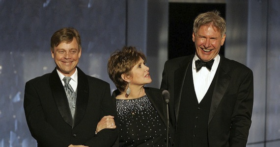 star-wars-episode-7-original-cast - Mark Hamill, Carrie Fisher and Harrison Ford