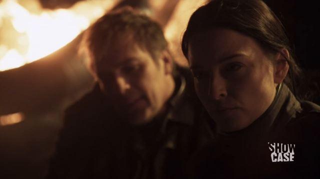 Continuum - Waning Minute - Kiera (Rachel Nichols) and Jaworski survive crash