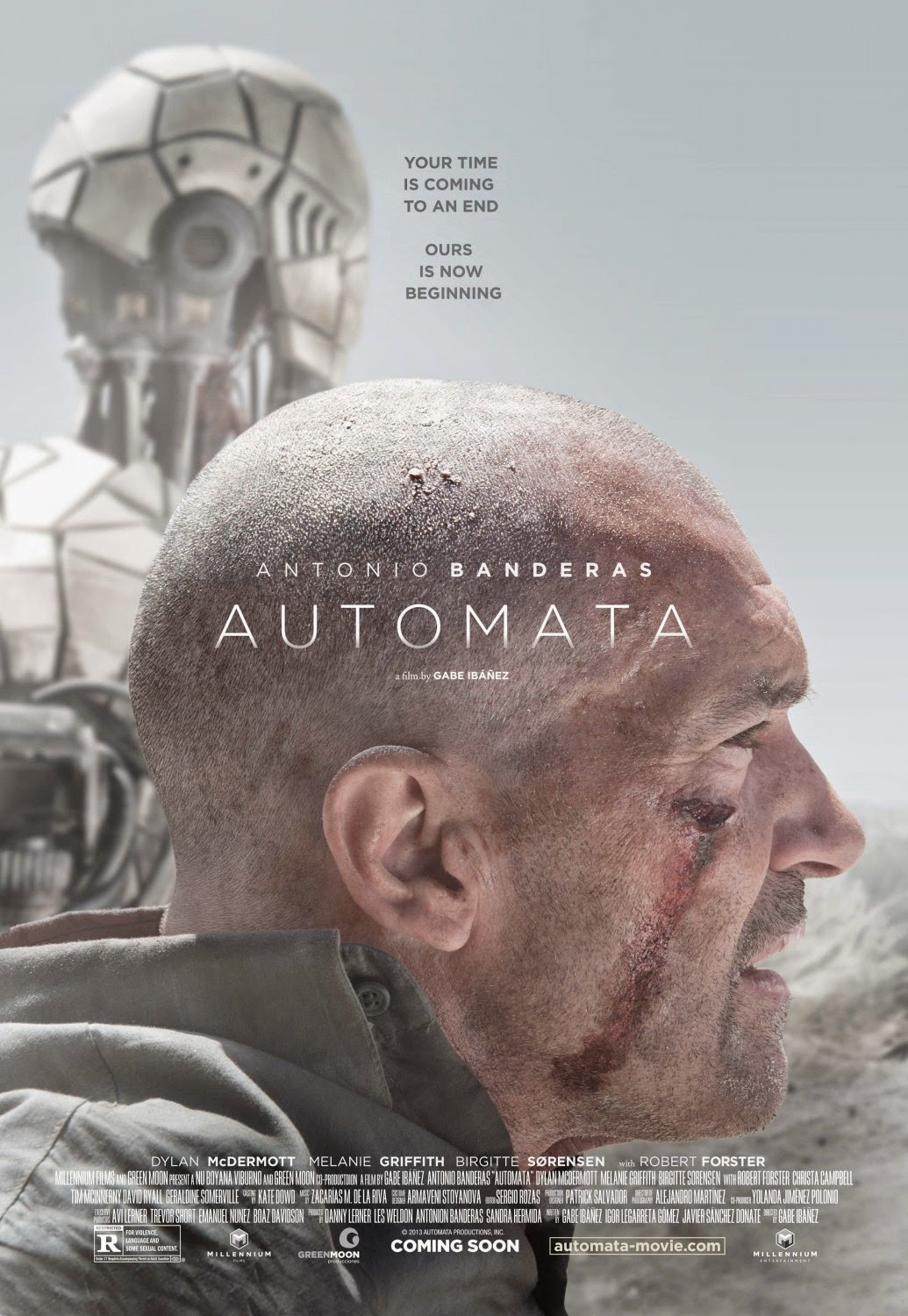 Autómata preview movie poster starring Antonio Banderas