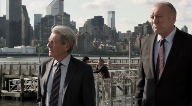 Person of Interest Season 4 Preview - Senator Ross Garrison (John Doman) and John Greer (John Nolan)