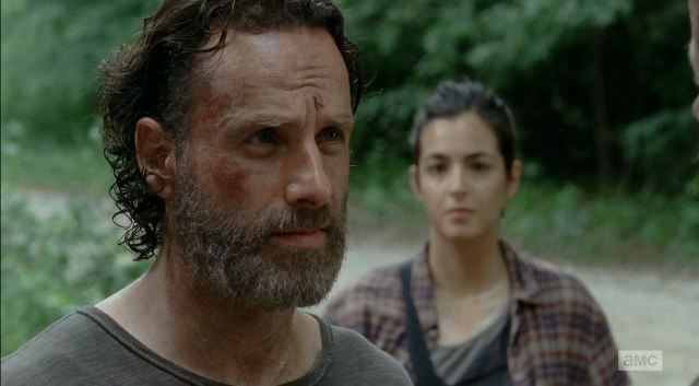 Rick Grimes played by Andrew Lincoln - The Walking Dead S5Ep3 Four Walls and a Roof Review