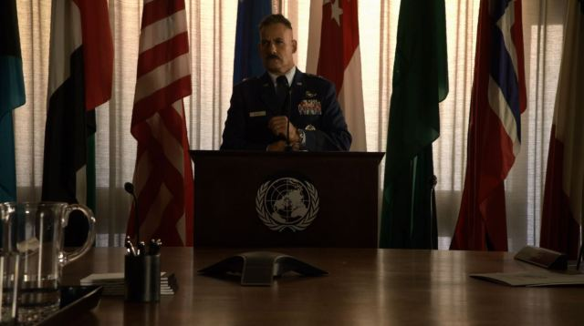 Talbot addressing the UN - Agents Of SHIELD S2Ep6 A Fractured House Review