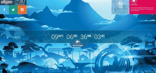 Jurassic World countdown clock