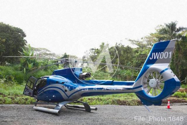 Jurassic World helicopter