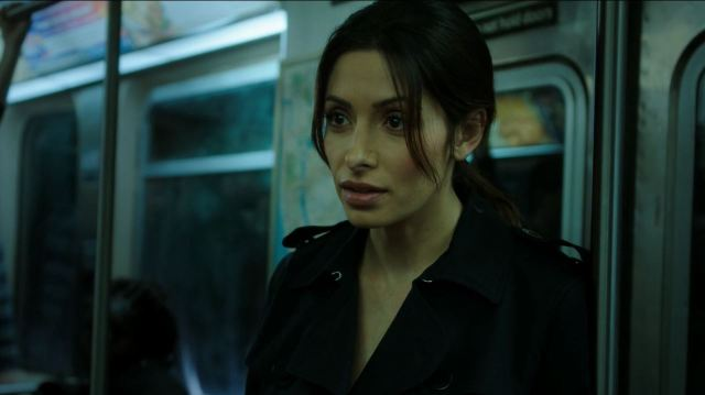 Person of Interest S4Ep11 If-Then-Else Review - Sarah Shahi as Sameen Shaw trying to defuse a suicide bomber
